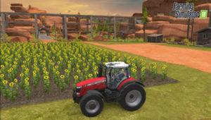 Farming Simulator 18 champ tournesol