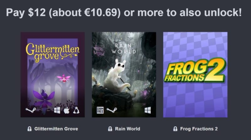 Humble Adult Swim Games Bundle palier 3 : Glittermore Grove, Frog Fractions 2, Rain World