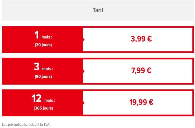 Nintendo Switch service en ligne tarifs