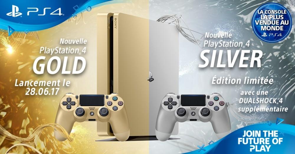 PlayStation 4 Slim Gold Silver