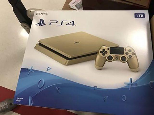 PlayStation 4 Slim dorée