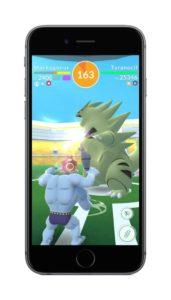 Pokémon Go Raid Mackogneur contre Tyranocif