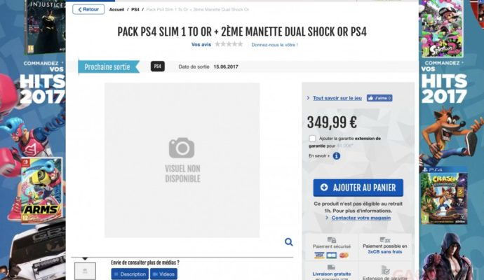 Screen PlayStation 4 Slim Or