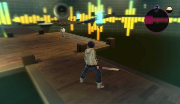 Test Akiba's Beat - Approche d'un ennemi