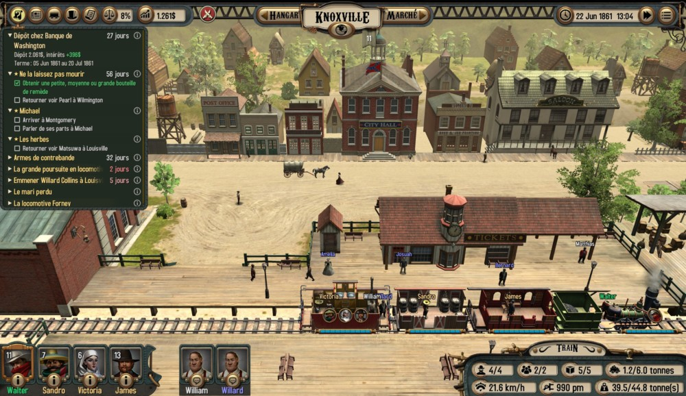 Test Bounty Train gare Knoxville