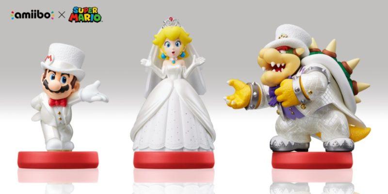 Super Mario Odyssey amiibo Mario Peach et Bowser