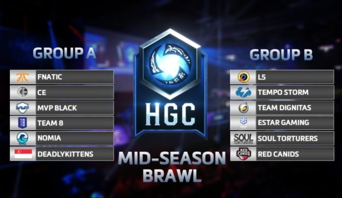mid season brawl groupe Heroes of the Storm