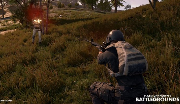 PlayerUnknown's Battlegrounds visée