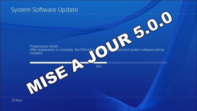 PlayStation 4 Firmware 5.0.0
