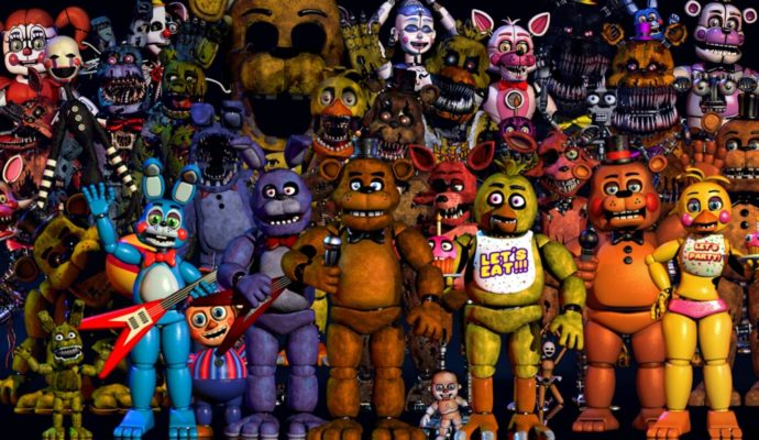 Photo de groupe animatronics Five Nights at Freddy's