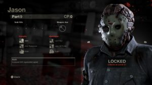 Friday the 13th: The Game Jason choix