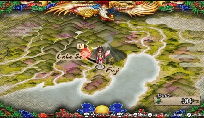 God Wars: Future Past La world map