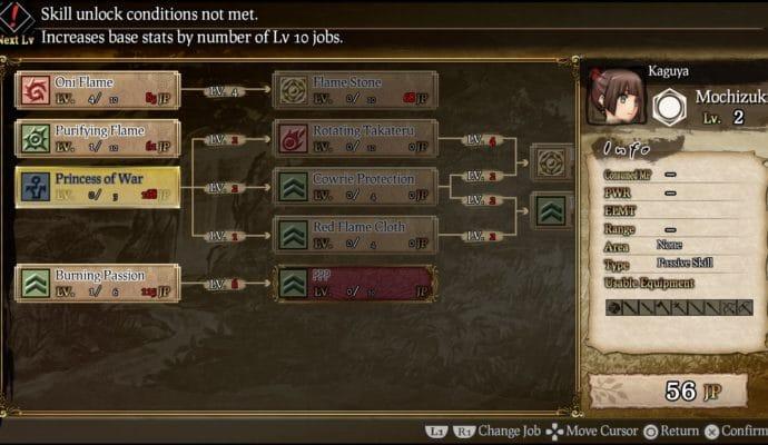 God Wars: Future Past arbre de compétences