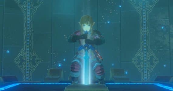 The Legend of Zelda: Breath of the Wild épreuves légendaires Link retire la Master Sword