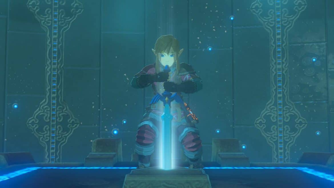 The Legend of Zelda: Breath of the Wild épreuves légendaires Link retire la Master Sword