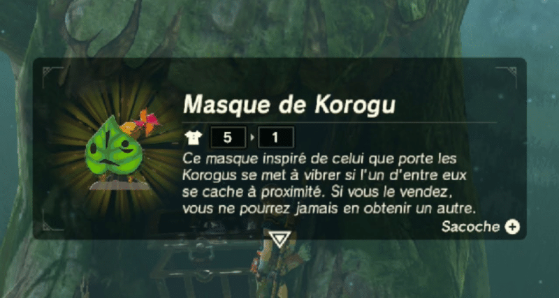 The Legend of Zelda: Breath of the Wild - Masque de Korogu