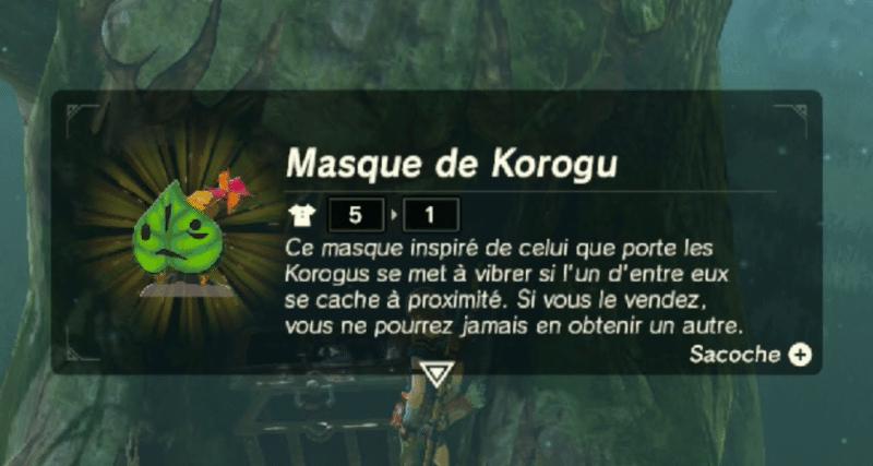 The Legend of Zelda: Breath of the Wild - Masque de Korogu
