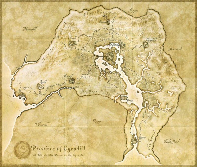 Beyond Skyrim - Map HD de Cyrodiil