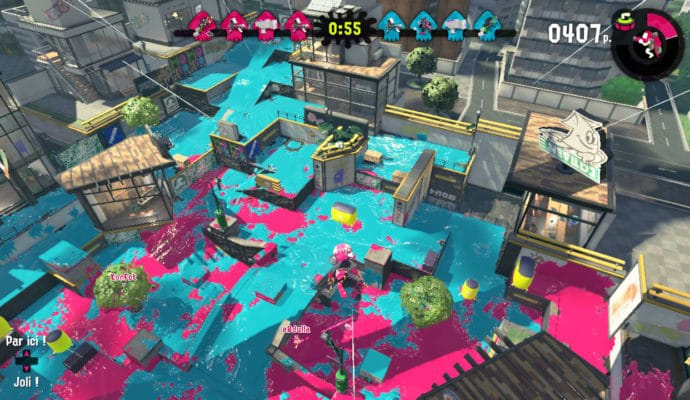 Test Splatoon 2 - Vue sur la carte