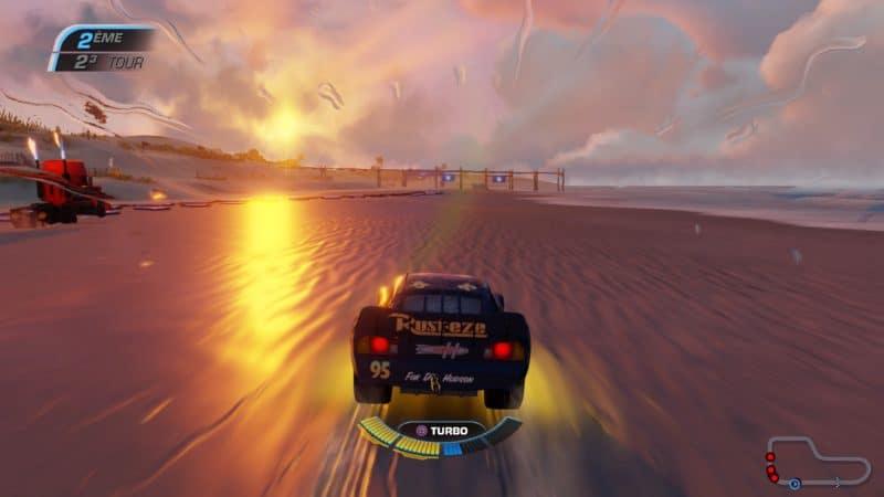 Test Cars 3 : Course vers la victoire - Flash sur la plage