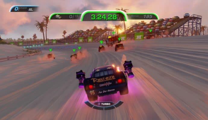 Test Cars 3 : Course vers la victoire - Course avec grenades