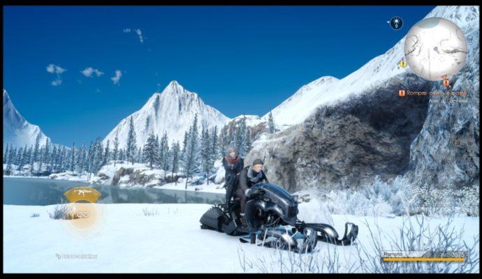 Final Fantasy XV : Épisode Prompto - Prompto et Aranea sur la motoneige