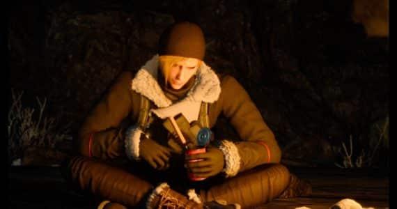 Test Final Fantasy XV : Épisode Prompto - Prompto autour du feu