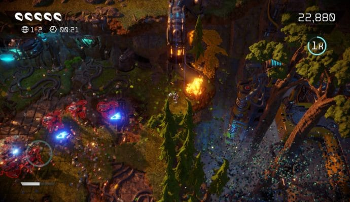 Test Nex Machina - Deuxème zone