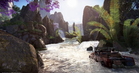 Uncharted The Lost Legacy - Chloé et Nadine en jeep