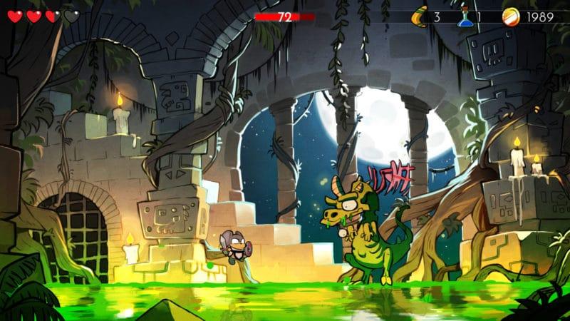 Wonder Boy: The Dragon's Trap combat