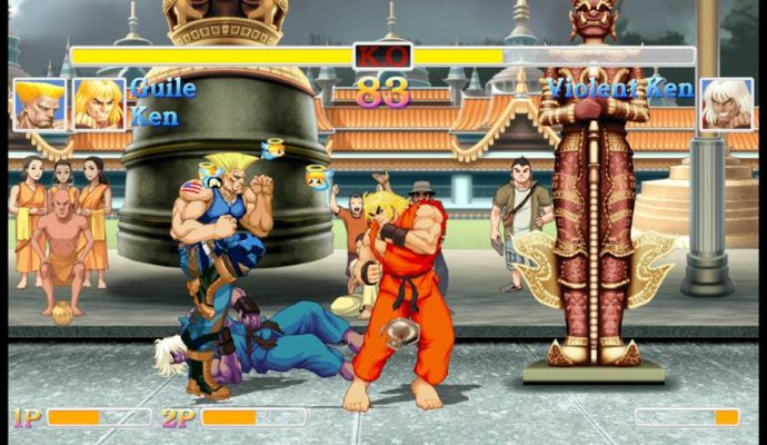 Le deux contre l'ordinateur dans Ultra Street Fighter II: The Final Challengers