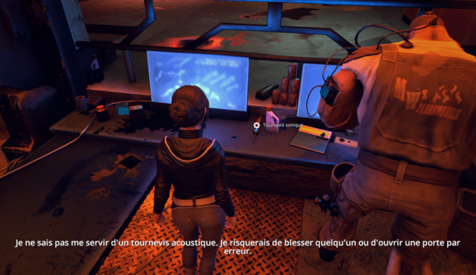 Une référence possible à Docteur Who faite par Zoë Castillo de Dreamfall Chapters