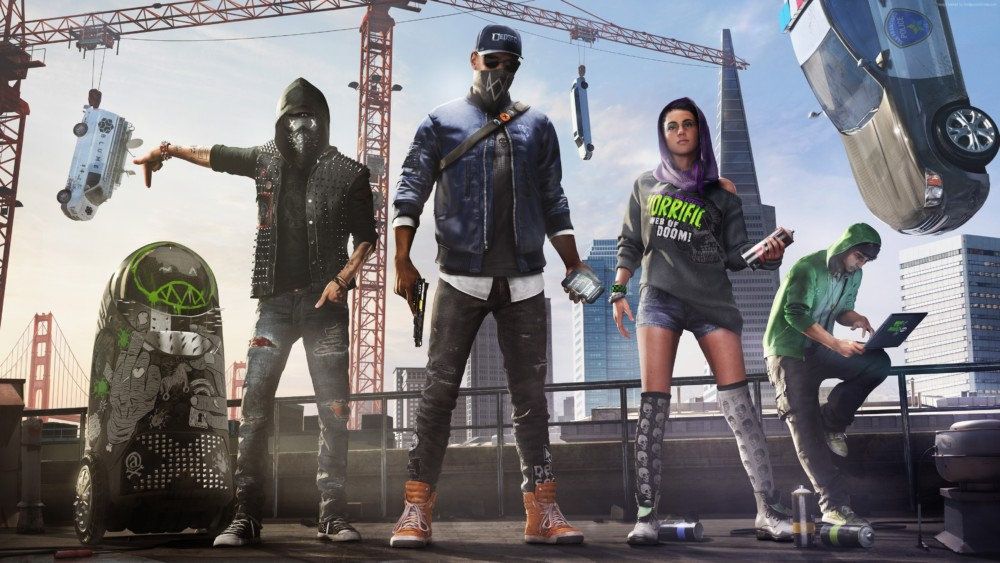 Watch Dogs 2 - Marcus et sa team