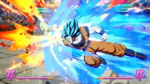 Dragon Ball FighterZ Goku casse une bouche