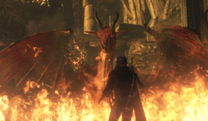 Dragon's Dogma: Dark Arisen Ce dragon s'appelle Grégory. Non mais c'est vrai !
