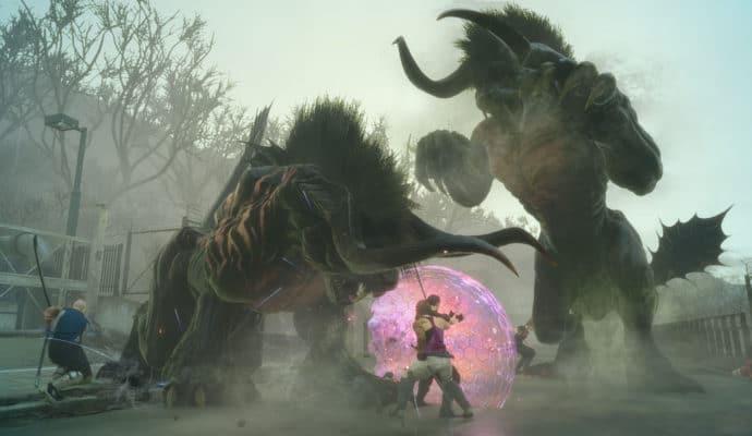 Final Fantasy XV DLC frères d'armes - behemot