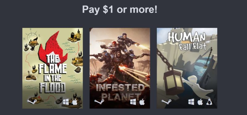 Humble Jumbo Bundle 9 palier 1