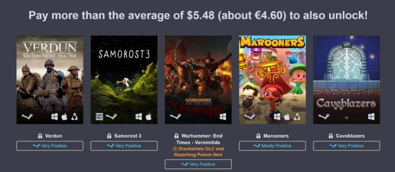 Humble Jumbo Bundle 9 palier 2