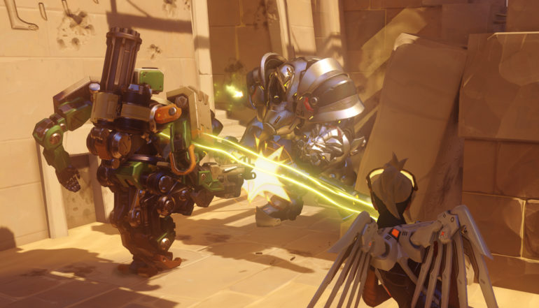 Overwatch Bastion combat