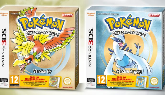 Version boîte de Pokémon Version Or et Version Argent sur Nintendo 3DS