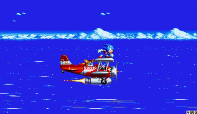 Sonic Mania - Sonic et Tails en avion