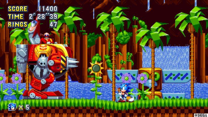 Sonic Mania Tails vs le grand méchant boss
