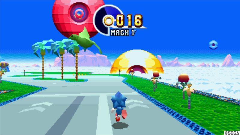 Sonic Mania niveau bonus en 3D