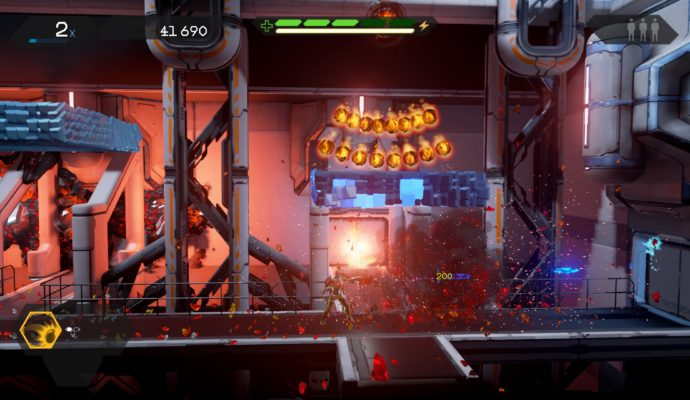 Test Matterfall - Plateforme comme bouclier