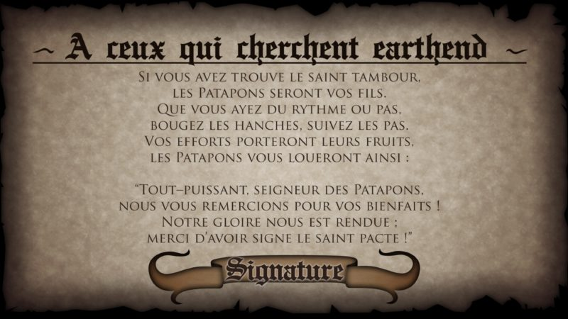 Test Patapon Remastered - Texte ambiance
