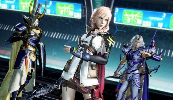 Trois personnages de Final Fantasy dans DISSIDIA Final Fantasy NT