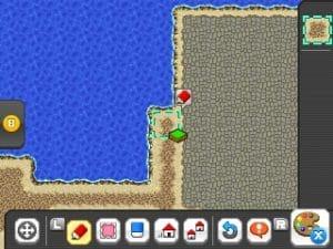 Création de carte sur RPG Maker Fes écran du bas
