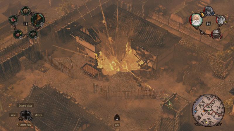 Shadow Tactics: Blades of the Shogun explosions