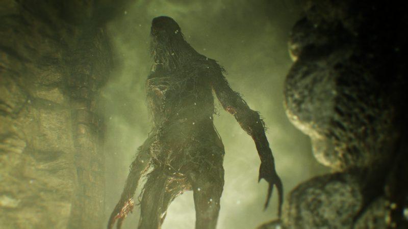 Resident Evil 7 monstre bizarre, glauque et vert
