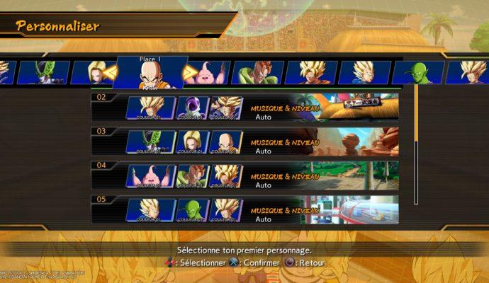 Dragon Ball FighterZ - Composition d'équipe